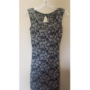 Dresses & Skirts - Black and silver lace embellished dress